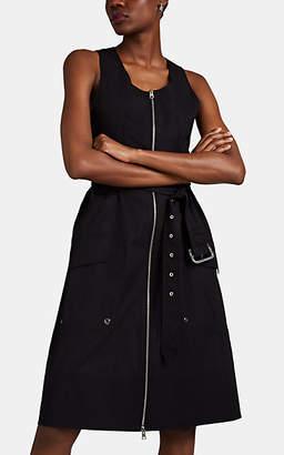 Derek Lam Women's Cotton Poplin Zip-Front Tank Dress - Black