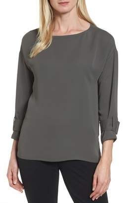 Nic+Zoe Buckle Sleeve Top