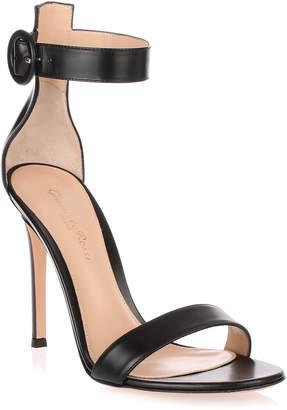 Gianvito Rossi Black leather Portofino sandal