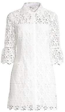 Sandro Women's Lauretta Lace Button-Front Dress