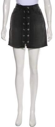 L'Agence Denim Mini Skirt