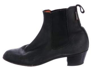 Penelope Chilvers Leather Round-Toe Ankle Boots