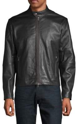 Saks Fifth Avenue Classic Leather Moto Jacket