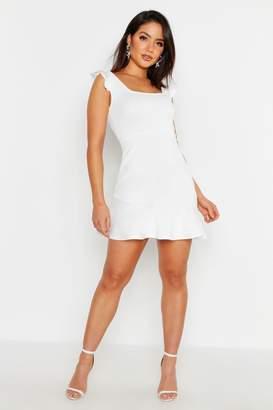 f1cdea63dfd8d boohoo White Skater Dresses - ShopStyle UK