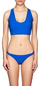Rochelle Sara Women's Fabi Crop Bikini Top - Blue