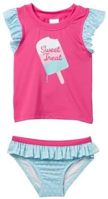 Harper Canyon Ruffle Rashguard Set (Toddler, Little Girls, & Big Girls)