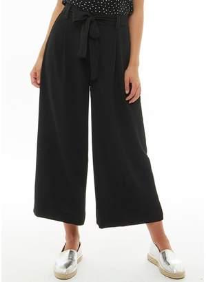 Brave Soul Womens Danes Tie Up Waist Woven Trousers Black