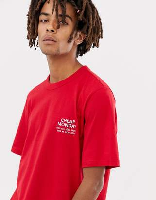 Cheap Monday Boxer T-shirt In Red