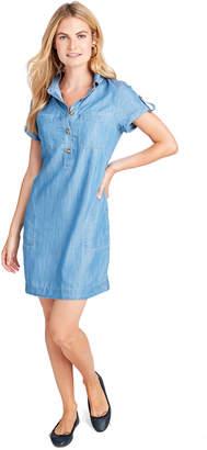 Vineyard Vines Margo Chambray Utility Shirt Dress