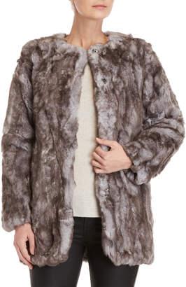 Adrienne Landau Real Rabbit Fur Coat