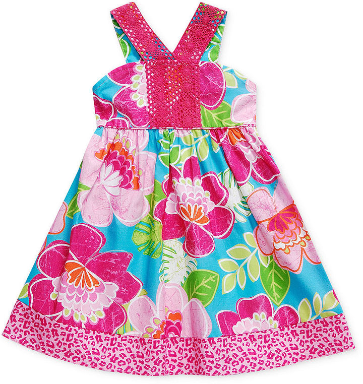 Sweet Heart Rose Kids Dress, Little Girls Flower Sundress