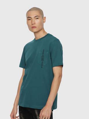 Diesel T-Shirts 0BASU - Blue - L