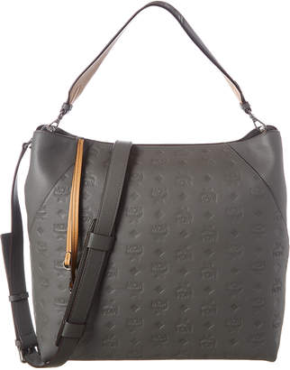 MCM Klara Large Monogram Leather Hobo Bag