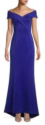 Eliza J High-Low Off-The-Shoulder Mermaid Gown