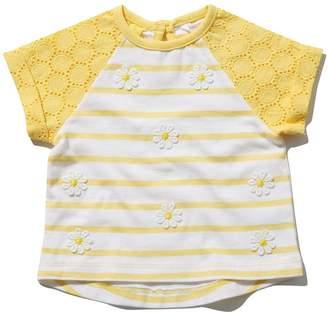 M&Co Daisy stripe raglan t-shirt