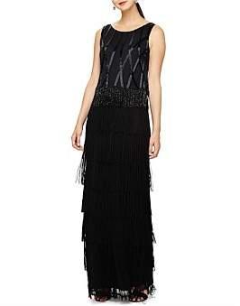 Phase Eight Viola Fringe Embellished Dress