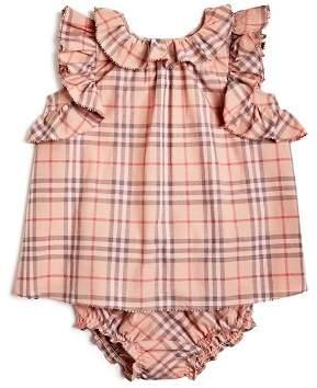 Burberry Girls' Carla Ruffle Check Dress & Bloomers Set - Baby