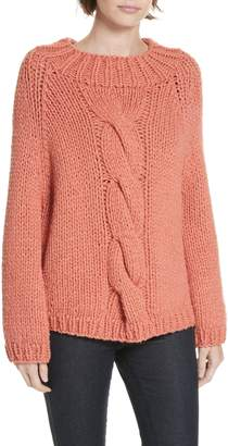 Brochu Walker Gia Hand Knit Wool Cashmere Blend Sweater