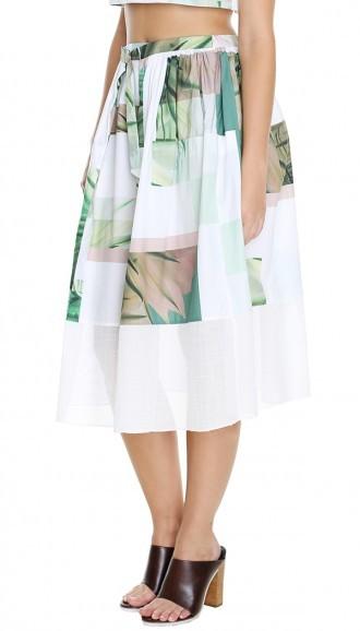 Tibi Fiore Di Cactus Full Skirt