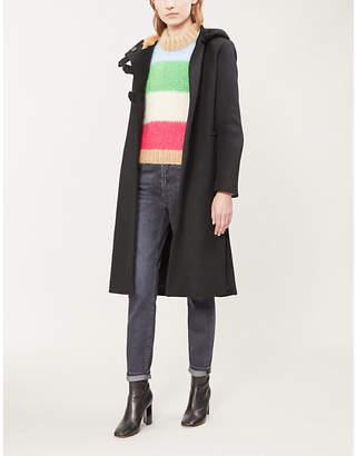 Maje Faux-fur lined wool-blend coat