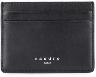 Sandro Paris engraved logo cardholder