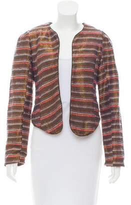 Maison Scotch Metallic Striped Blazer