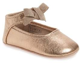 Kenneth Cole New York Rose Bow Metallic Ballet Flat