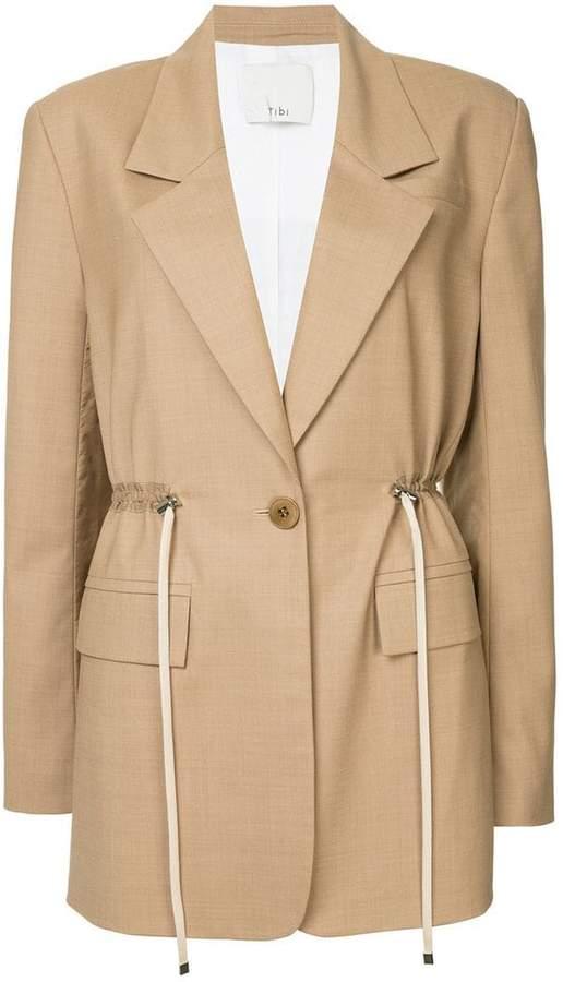 oversized drawstring blazer
