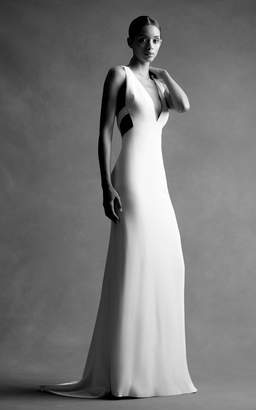 Brandon Maxwell Bridal M'O Exclusive: Deep V Open Back Gown