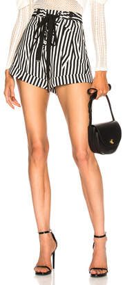 Self-Portrait Stripe Shorts