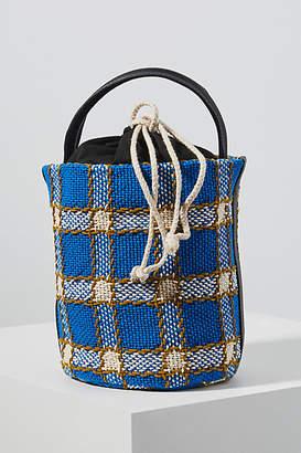Maria La Rosa Porto Woven Bucket Bag