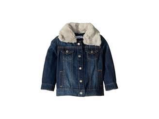 Splendid Littles Denim Jacket with Faux Fur Collar (Infant)