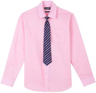 Chaps Boys 4-20 Stretch Shirt & Tie Set