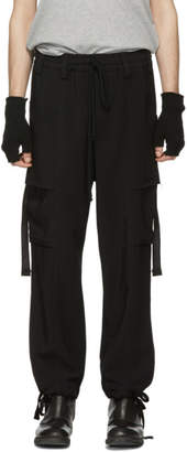 Song For The Mute Black Elasticized Cargo Pants
