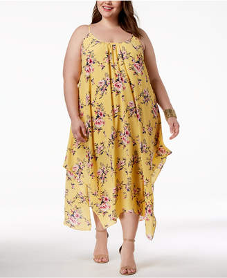 Soprano Trendy Plus Size Handkerchief-Hem Maxi Dress