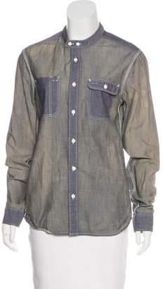 AllSaints Long Sleeve Button-Up Top
