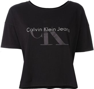 Calvin Klein Jeans cropped T-shirt $48.28 thestylecure.com