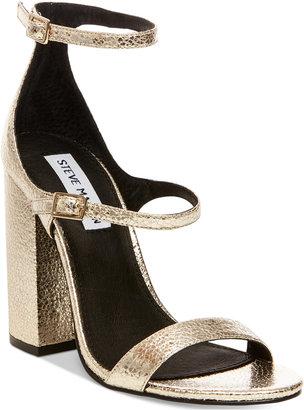 Steve Madden Women's Parrson Block-Heel Sandals $99 thestylecure.com