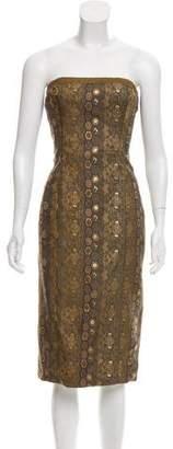 Ralph Lauren Black Label Strapless Brocade Dress