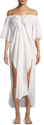 Mara Hoffman Kamala Off-the-Shoulder Short-Sleeve Coverup Dress