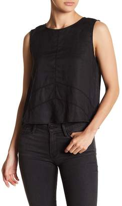 Fate Cross Back Sleeveless Linen Top