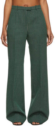 Givenchy Green Look 16 Plaid Trousers