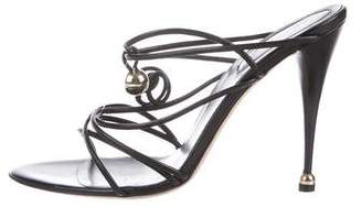 Sergio Rossi Leather Strap Sandals