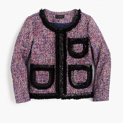 J.CrewTweed lady jacket with sparkly trim