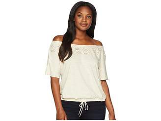 Lauren Ralph Lauren Embroidered Jersey Top