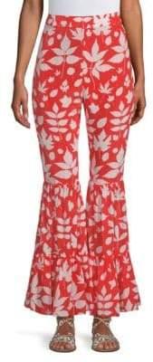 Carolina K. Elena Ruffle Silk Pants