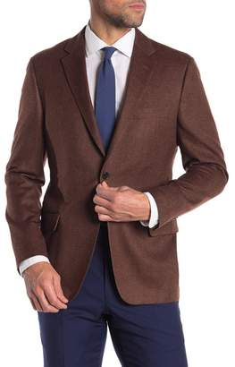 Hickey Freeman Solid Classic Fit Cashmere Sportcoat