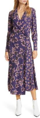 Rag & Bone Odette Floral Print Long Sleeve Midi Dress