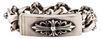Chrome Hearts Cross ID Bracelet silver Cross ID Bracelet