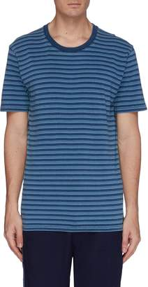 Denham Jeans 'Recall' mock interior drawstring stripe T-shirt
